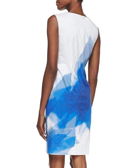 Alyssa Sleeveless Geometric Python-Print Dress