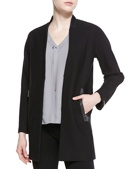 Leeann Zip-Detail Knit Coat