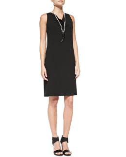 Eileen Fisher Sleeveless Jersey Shift Dress