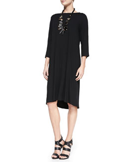 Eileen Fisher Sleeveless Jersey Shift Dress, Women's