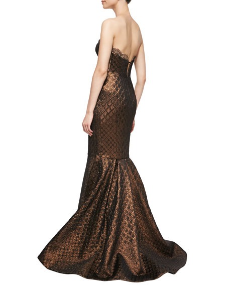 Bustier Mermaid Gown, Bronze