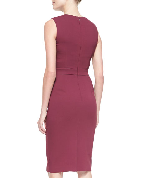 Iona Sleeveless Round Cutout Sheath Dress