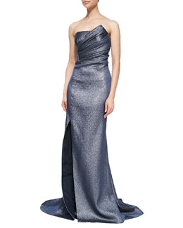 J. Mendel Strapless Metallic Gown