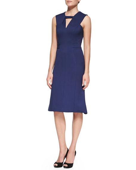 J. Mendel Sleeveless Back-Pleated Knee Dress