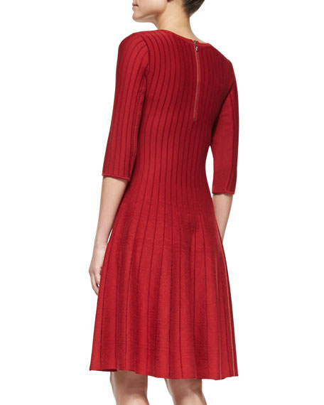 Twirl Half-Sleeve Knit Dress