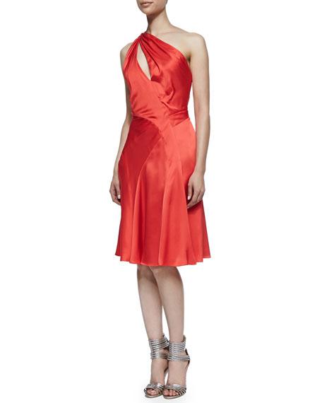 J. Mendel One-Shoulder Dress with Flared Skirt