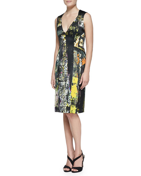 J. Mendel Sleeveless Printed Silk Dress
