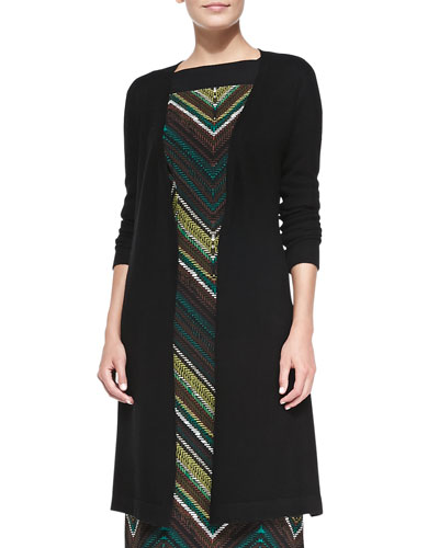 Melissa Masse Cashmere Long Cardigan, Black, Women's
