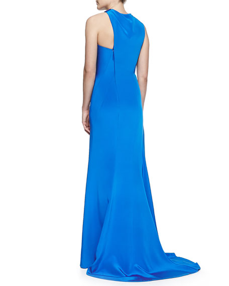 Sleeveless Asymmetric Gown