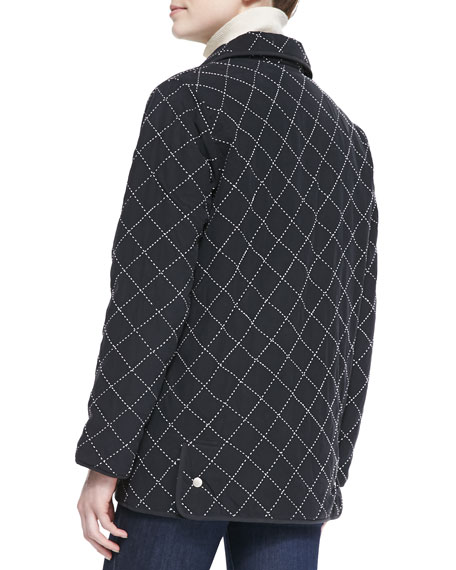 Go Silk Quilted Silk Barn Jacket | Neiman Marcus : quilted silk - Adamdwight.com