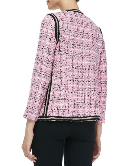 Chain Link-Detail Tweed Jacket, Women's