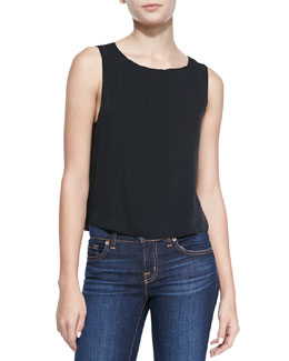 Alice + Olivia Slit-Back Sleeveless Top