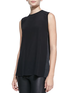 Alice + Olivia Sleeveless Open Cowl-Back Top