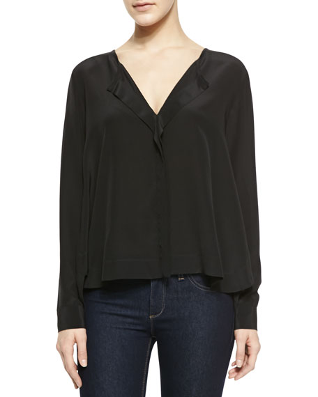 Long-Sleeve V-Neck Top