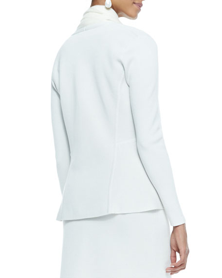 Silk-Cotton Peplum Jacket