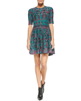 M. Missoni Art Deco Fleur Dress