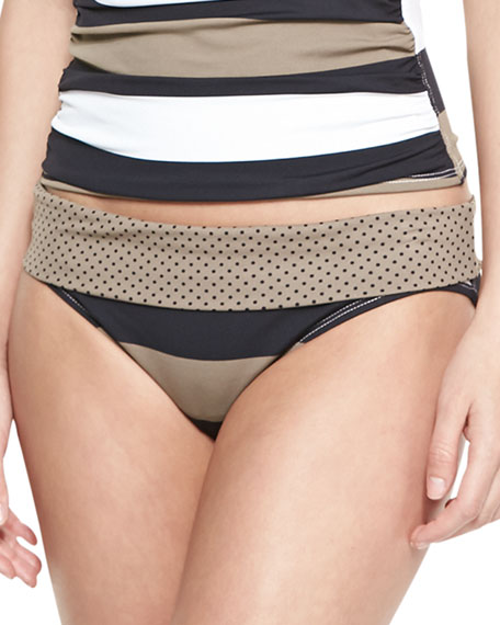 Dotted/Striped Banded Hipster Bottom