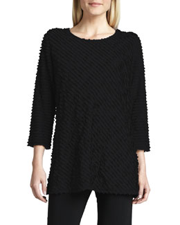Caroline Rose Ruffled Knit Scoop-Neck Tunic, Women's
