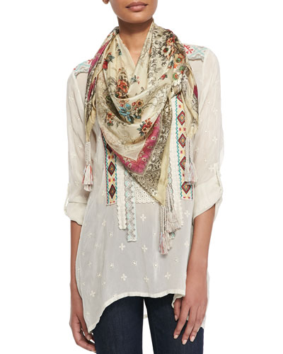Johnny Was Collection Lena Silk Georgette Scarf