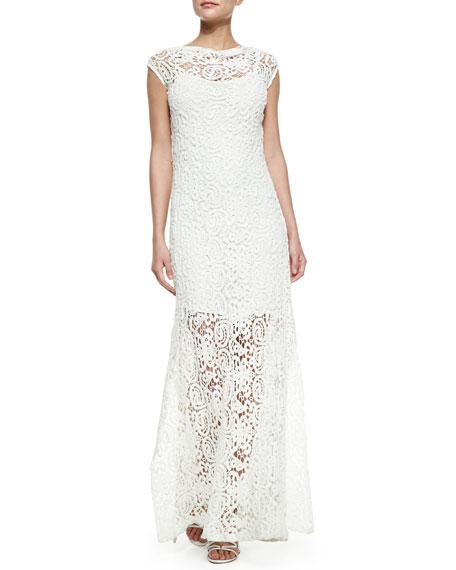 Lilac Crochet Maxi Dress