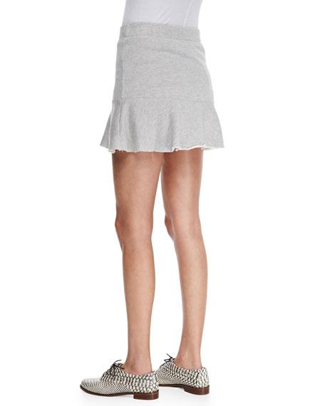 Flounce-Hem Knit Skirt
