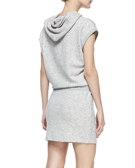 Jersey Sleeveless Hooded Dress