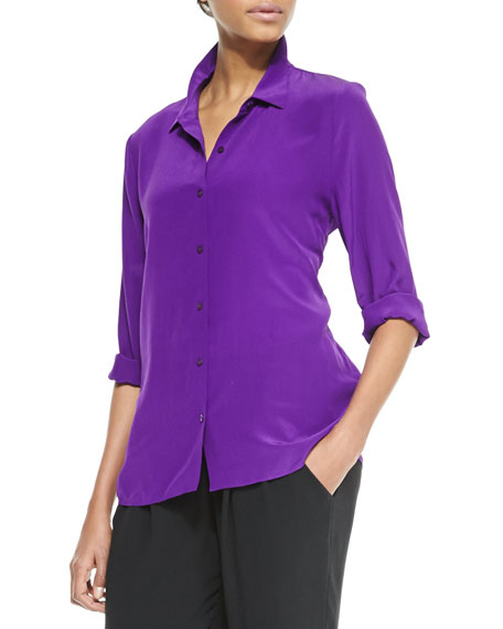 Silk Crepe de Chine Blouse, Women's