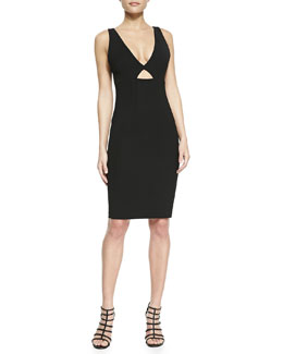 Alice + Olivia Yve Formfitting Sleeveless Cutout Dress