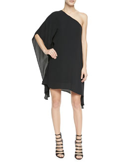 BCBGMAXAZRIA Alana Jersey One-Shoulder Dress