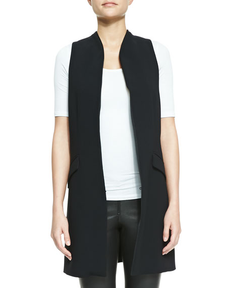 Long Shawl-Collar Vest