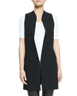 Alice + Olivia Long Shawl-Collar Vest