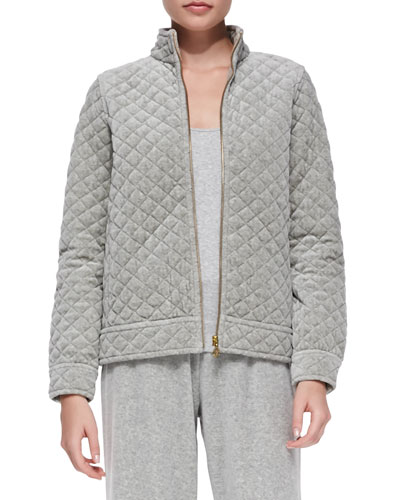 Quilted Velour Jacket, Women