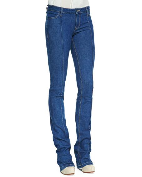 High-Waist Boot-Cut Jeans