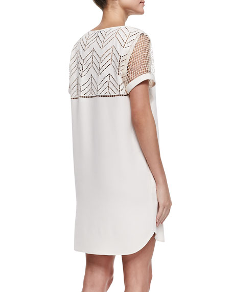 Lorelei V-Neck Laser-Cutout Dress