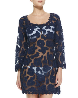Letarte Island Vine Sheer Lace Coverup