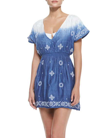 Island Vine Embroidered Coverup