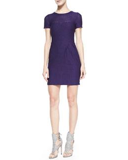 Nanette Lepore Short-Sleeve Cliff-Hanger Dress