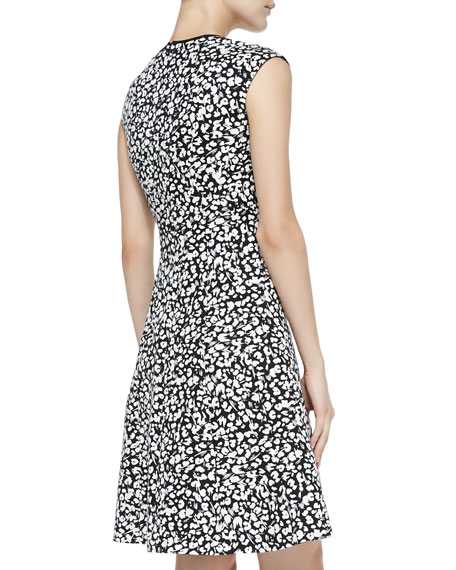 Librarian Floral-Print Sateen Dress