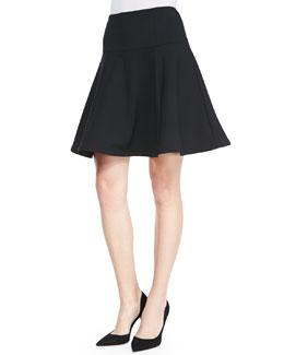 Nanette Lepore Author Jersey Flared Skirt