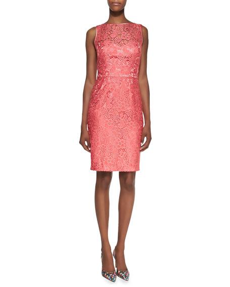 Theia Lace Sleeveless Dress