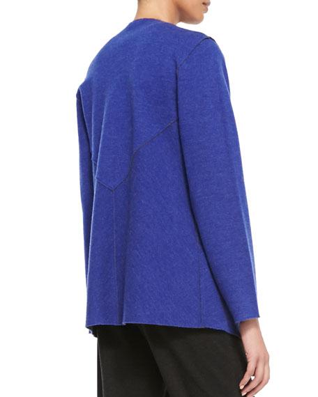 Felted Merino Jacket, Adriatic, Women's