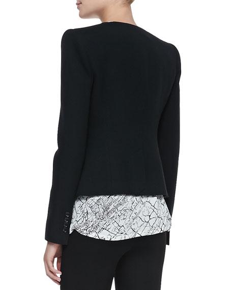 Marcelle Contrast-Trim Tuxedo Jacket