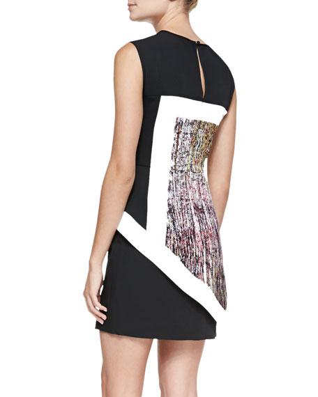 Alessandra Printed/Colorblock Dress