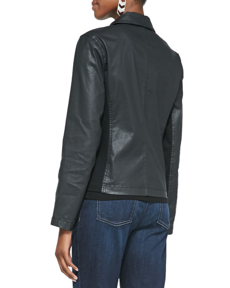 Waxed Short Moto Jacket
