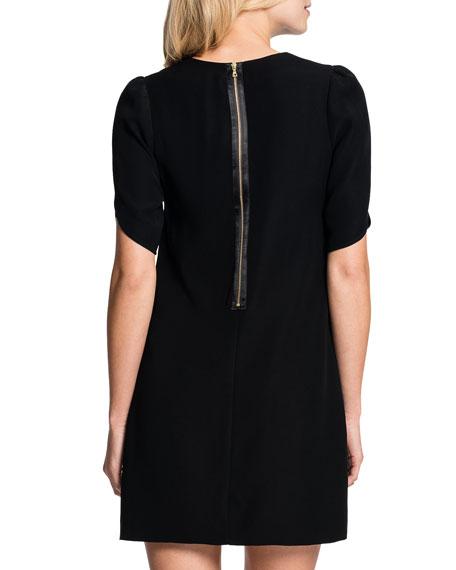 Tulip-Sleeve Sunday Dress, Black