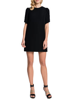 Cynthia Steffe Tulip-Sleeve Sunday Dress, Black