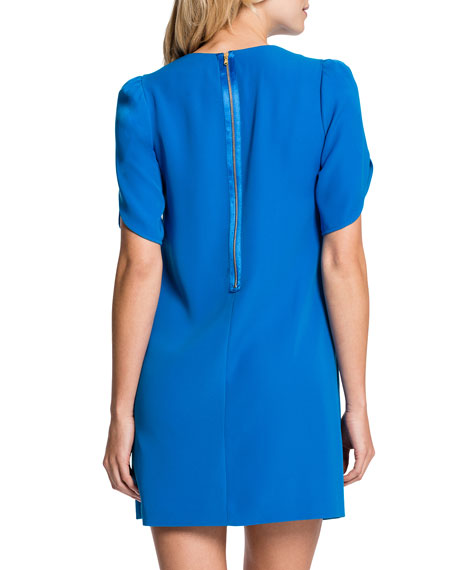 Tulip-Sleeve Sunday Dress, Cosmic Blue
