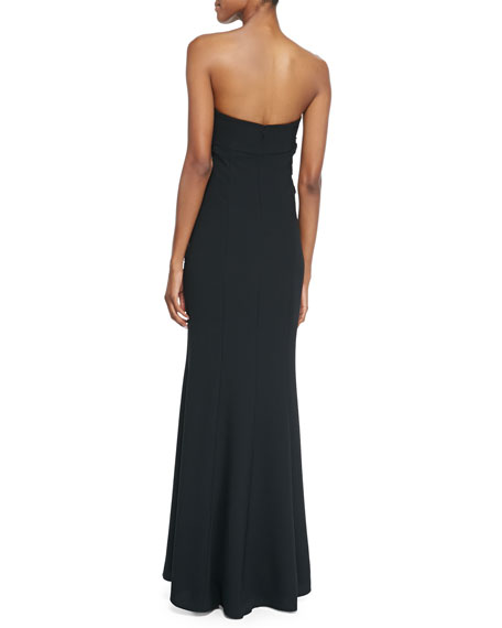 Strapless Empire Waist Gown