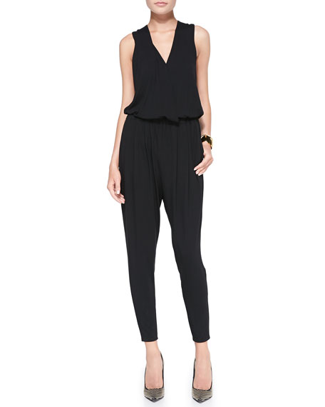 Fisher Project V-Neck Sleeveless Jumpsuit
