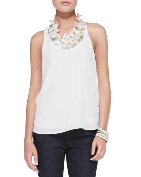 Fisher Project Scoop-Neck T-Back Silk Tank